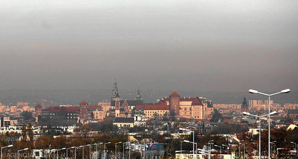 Smog nad Krakowem, 18 października 2017