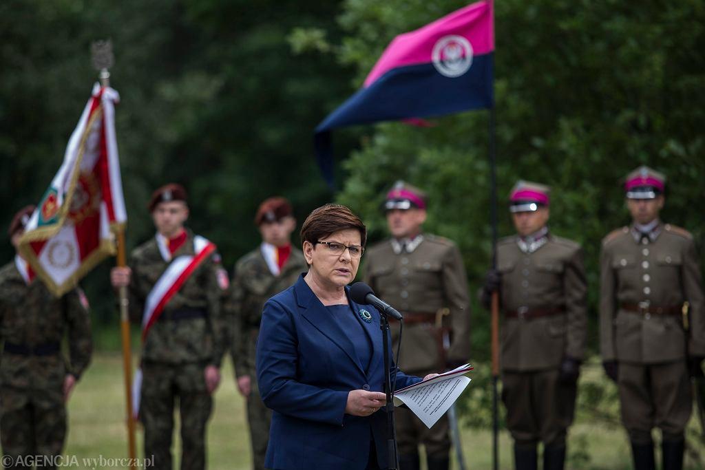 Premier Beata Szydło w Oświęcimiu