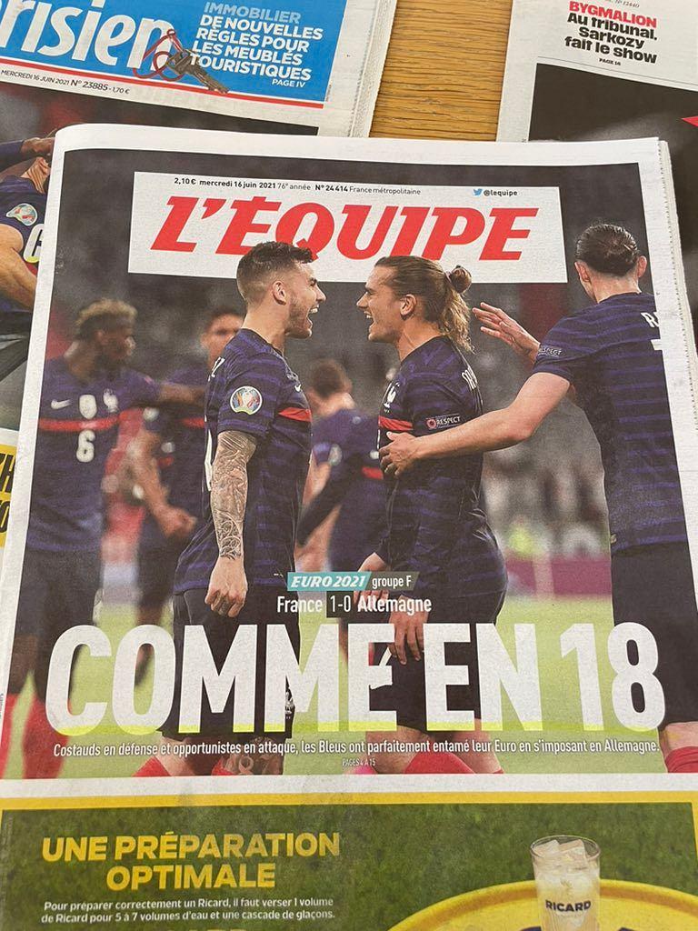 Okładka 'L'Equipe'