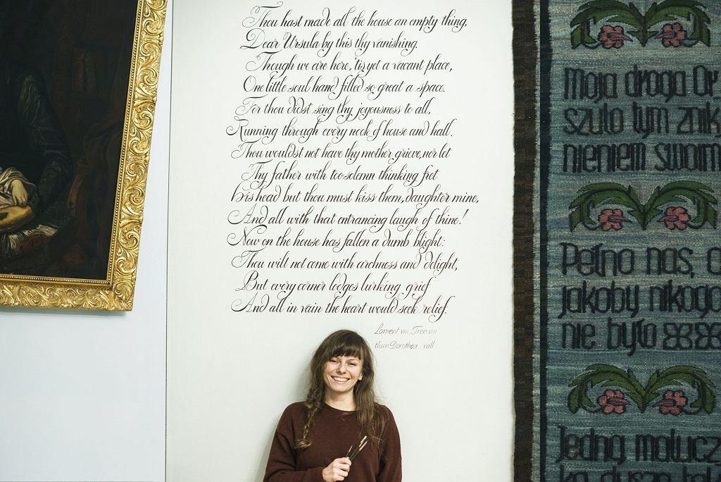 Kaligrafia, Wiersze Jana Kochanowskiego wykaligrafowane przez Ewę Landowską w Muzeum w Czarnolesie / fot. Edyta Dufaj