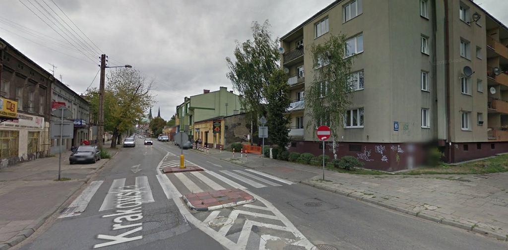 Róg ul. Krakowskiej i Małej w Częstochowie