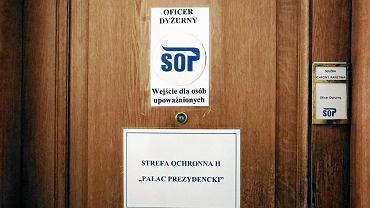 Biuro Służby Ochrony Państwa w Pałacu Prezydenckim.