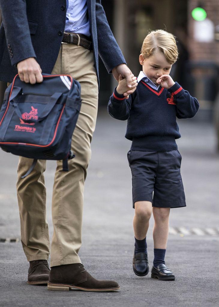 Książę George w 2017 roku - pierwszy dzień szkoły