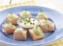 Łososiowe kostki z kremem ziołowym - ugotuj