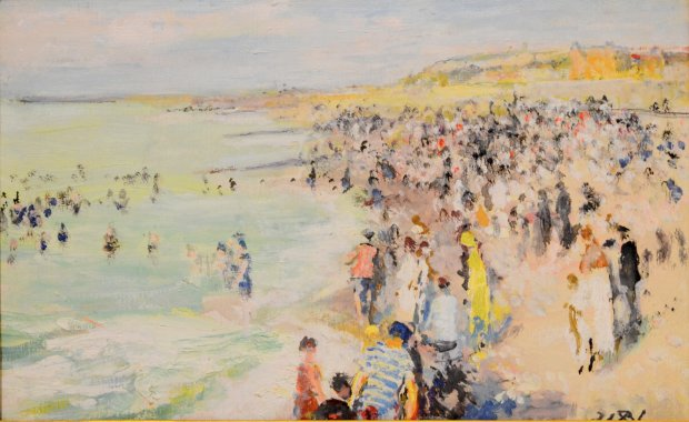 Jacques Emile Blanche, La plage de Dieppe