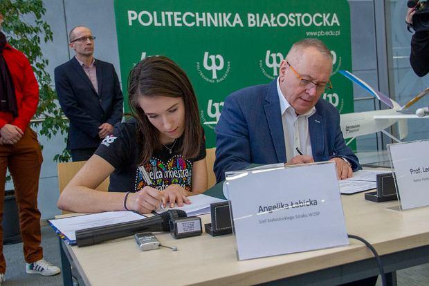Bezzałogowy Aparat Latający przygotowany przez studentów Politechniki Białostockiej i ofiarowany na WOŚP