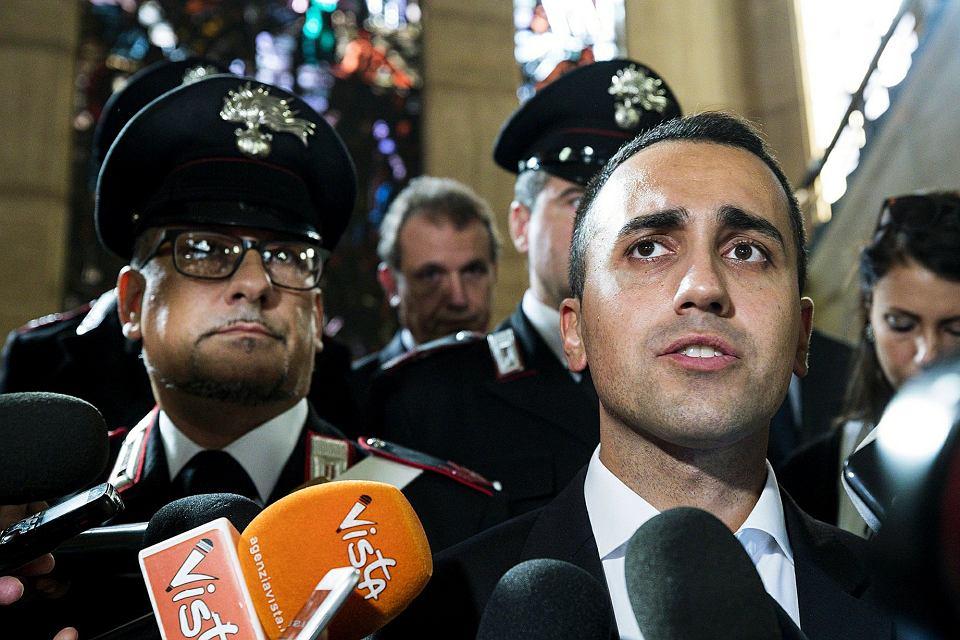 Wicepremier Luigi Di Maio, lider Ruchu 5 Gwiazd i minister rozwoju gospodarczego Włoch