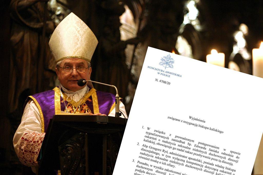 Papież przyjął rezygnację biskupa Janiaka.