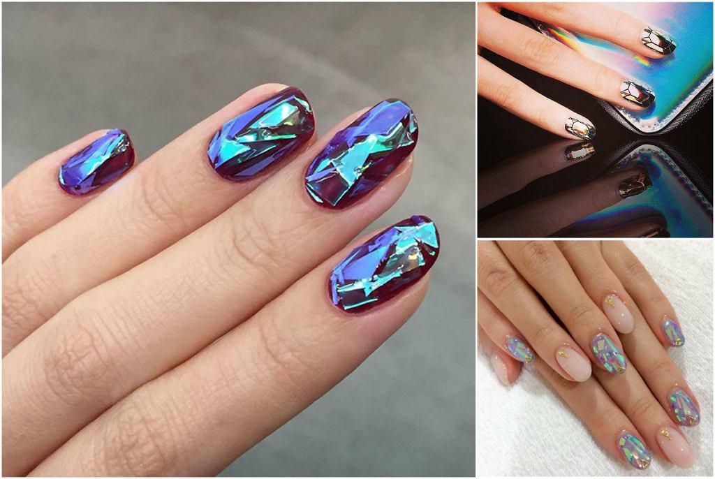 Szklane paznokcie