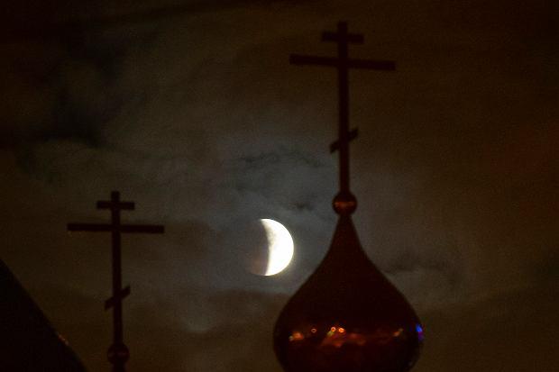 Zaćmienie Księżyca, Rosja, 21 stycznia 2019 r.