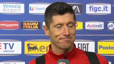 Robert Lewandowski w rozmowie z TVP Sport po meczu Włochy - Polska