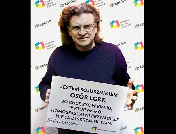 Zbigniew Wodecki zdecydował się wesprzeć akcję Kampanii Przeciw Homofobii