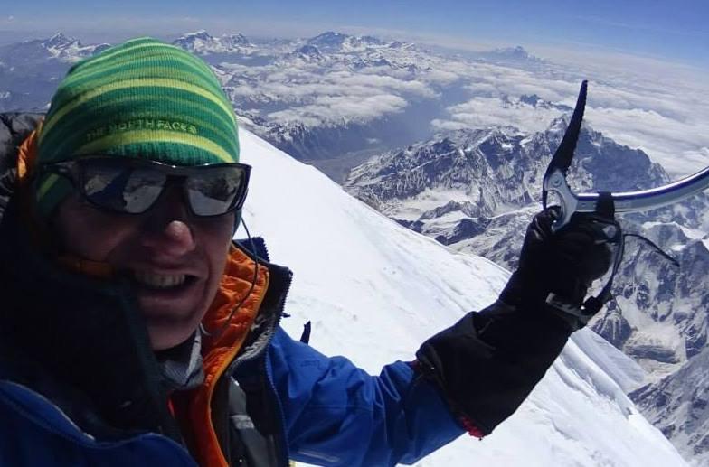 Denis Urubko na szczycie Kanczendzongi