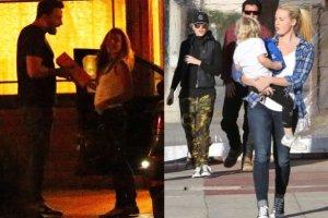 Ben Affleck i Christine Ouzounian / Gwen Stefani i Gavin Rossdale z dziećmi i nianią, Miny Mann