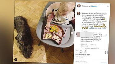 Olga Frycz pokazała, jak jej córka świetnie posługuje się widelcem. To specjalny gadżet