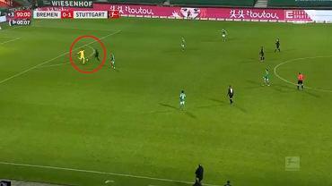 Zachowanie Wamangituki przy golu na 2:0 z Werderem