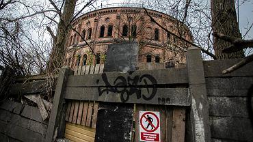 Opuszczona gazownia przy ul. Prądzyńskiego