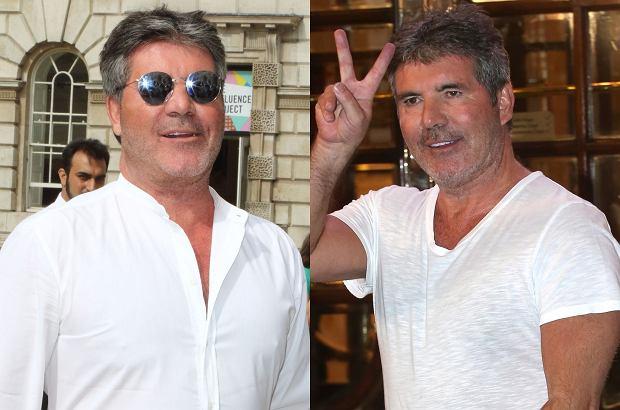Simon Cowell - rok temu i dziś