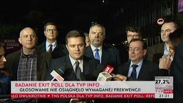 Konferencja PiS po referendum