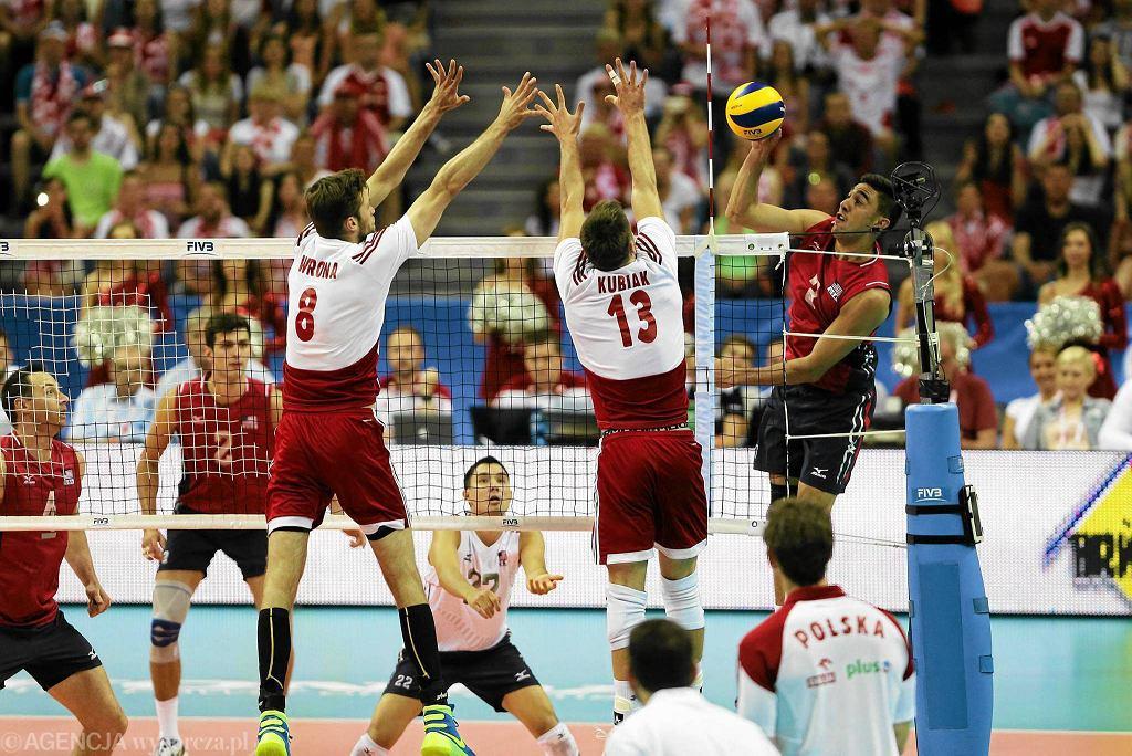Polscy siatkarze w meczu z reprezentacją USA