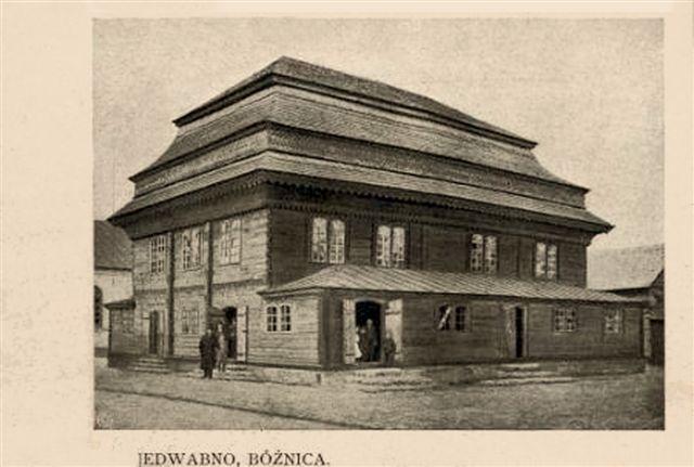 Stara synagoga w Jedwabnem (fot. S. Zaborowski ze zbiorów Towarzystwa Opieki nad Zabytkami Przeszłości w Warszawie)
