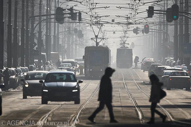 Smog na Łodzą - styczeń 2017