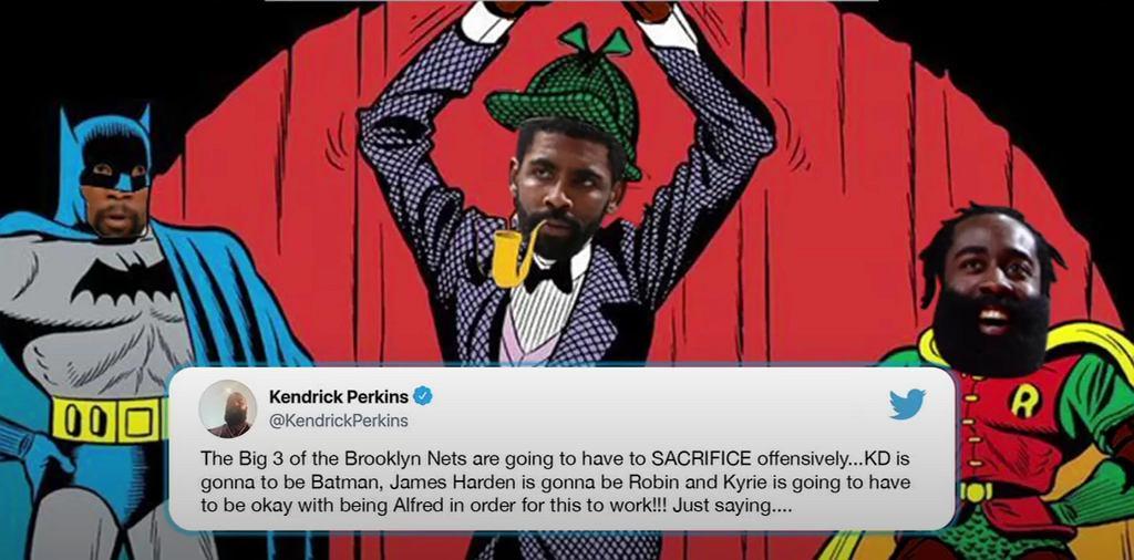Tweet Kendricka Perkinsa o Kyrie'em Irvingu, Kevinie Durancie i Jamesie Hardenie