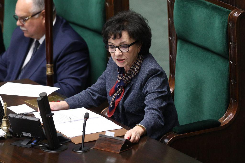 21.11.2019 Warszawa. Sejm. Marszałek Elżbieta Witek podczas 1 posiedzenia Sejmu IX Kadencji.