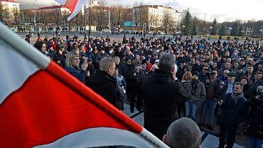 'Pasożyty' kontra reżim Łukaszenki...  Demonstracja uliczna w Mińsku, 10 marca 2017