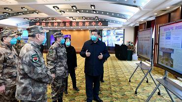 Prezydent Chin Xi Jinping wizytuje Wuhan, miasto z którego wyszła epidemia koronawirusa. Wuhan, Chiny, 10 marca 2020