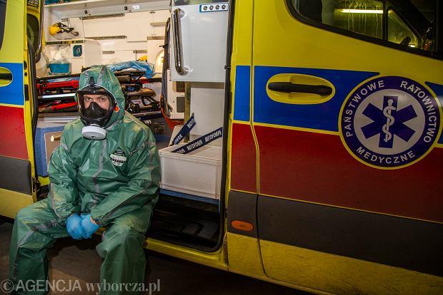 Koronawirus. Ryszard Hodun, koordynator pracy Zakładu Pomocy Doraźnej Wojewódzkiej Stacji Pogotowia Ratunkowego w Białymstoku