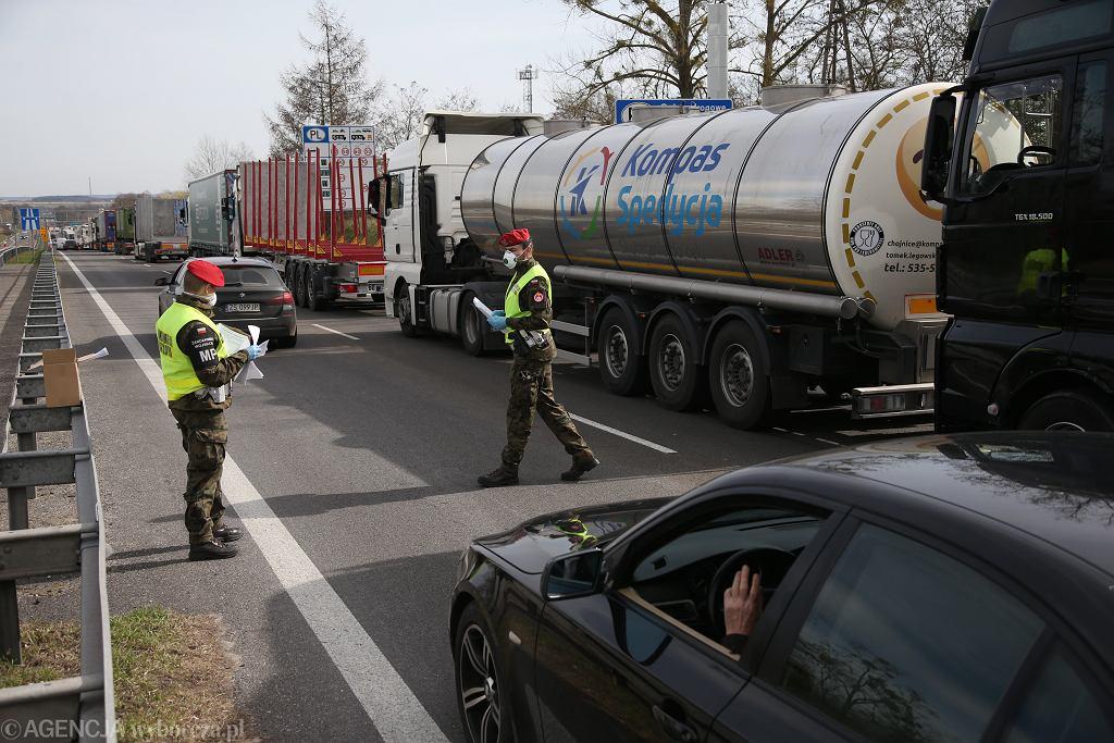 Przejście graniczne Kołbaskowo, 18 marca 2020.