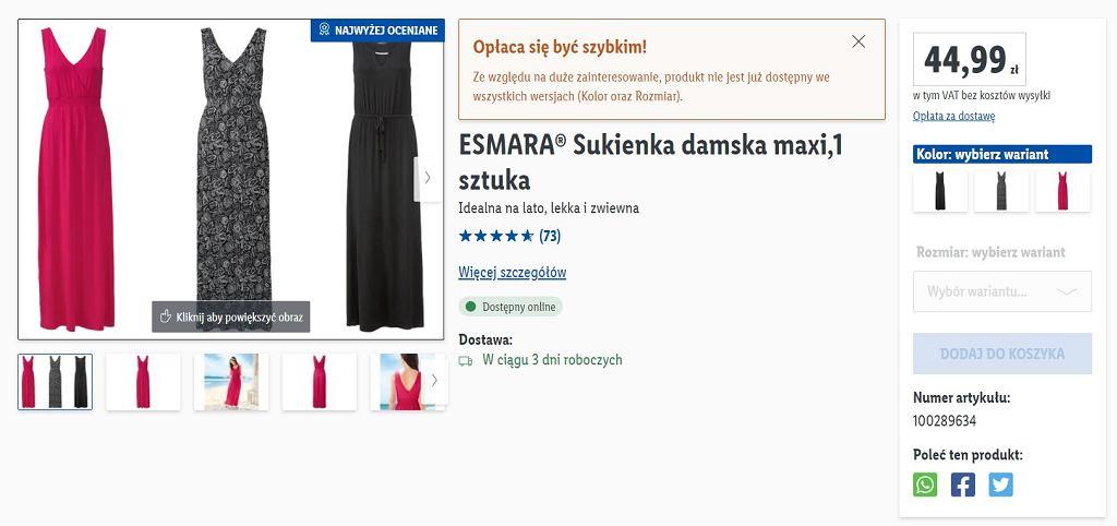 Sukienka, Lidl