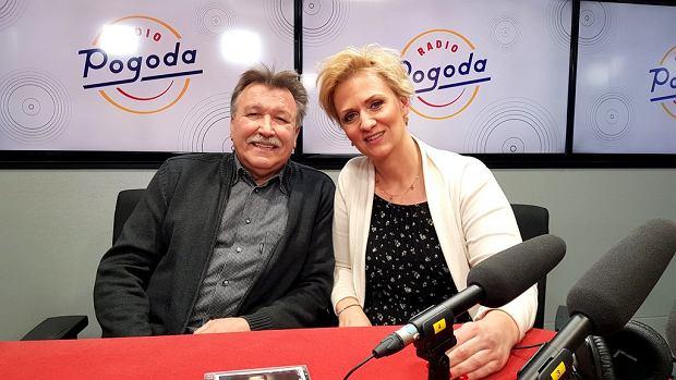 Andrzej Rybiński i dziennikarka Radia Pogoda Anna Stachowska