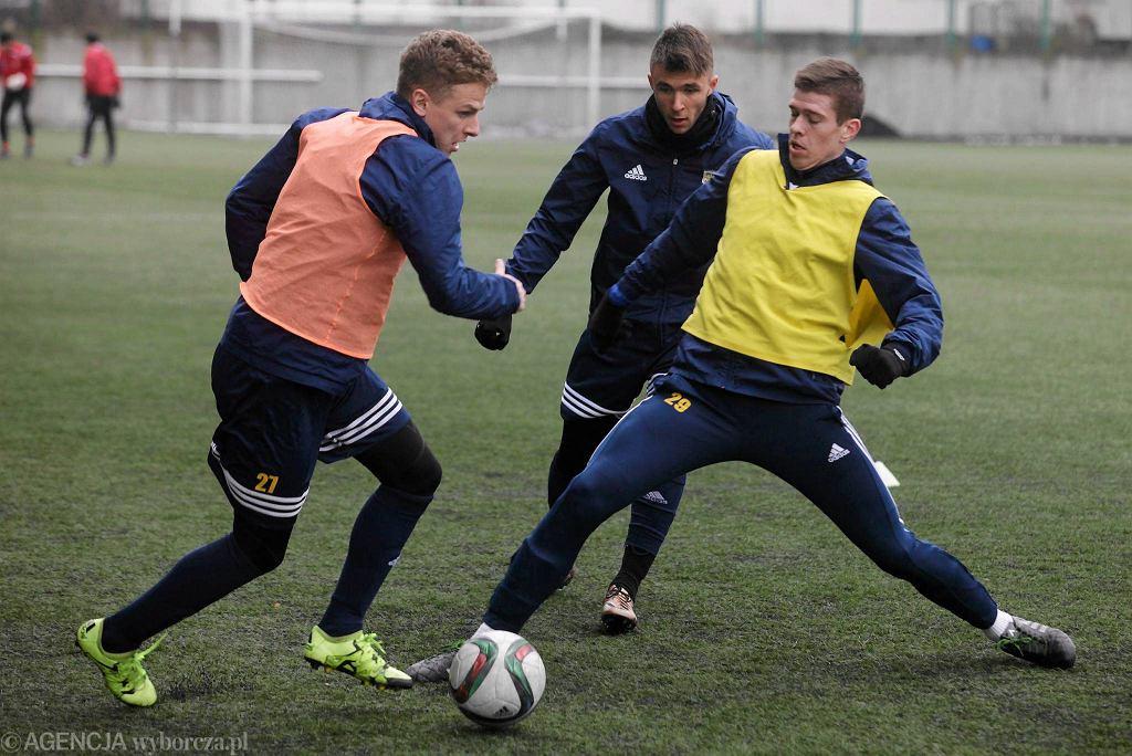 Trening piłkarzy Arki