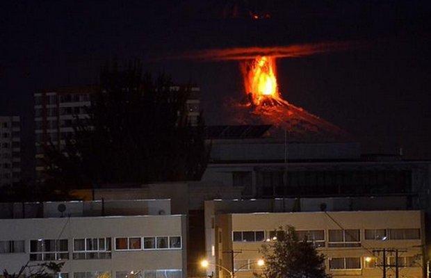 Erupcja wulkanu Villarica w Chile