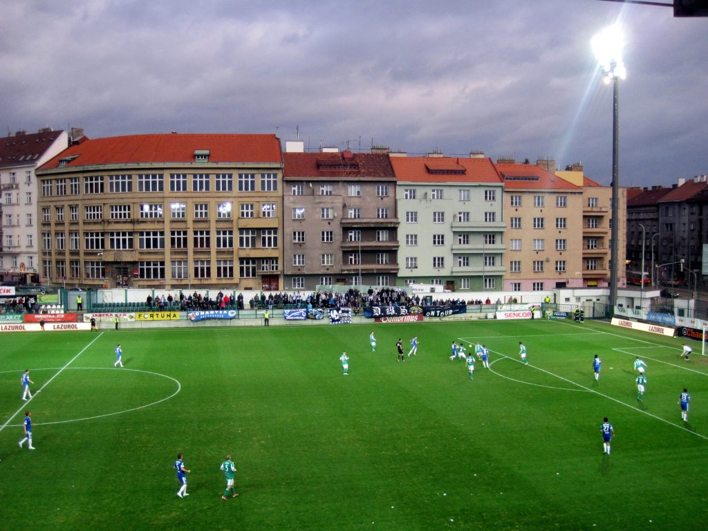 Stadion na Dolicku, mecz Bohemians 1905