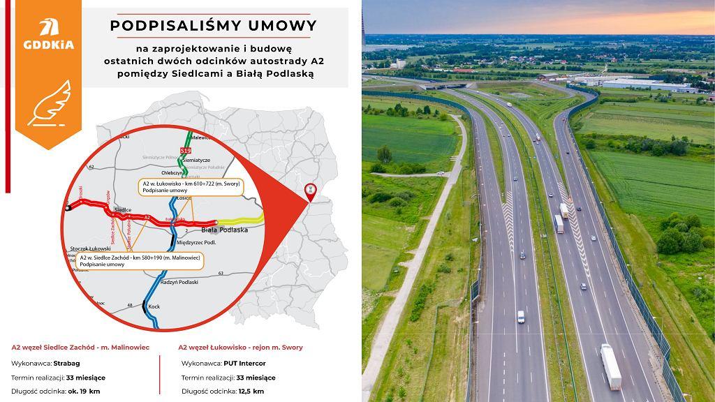 Autostrada A2, Siedlce Zachód - Biała Podlaska