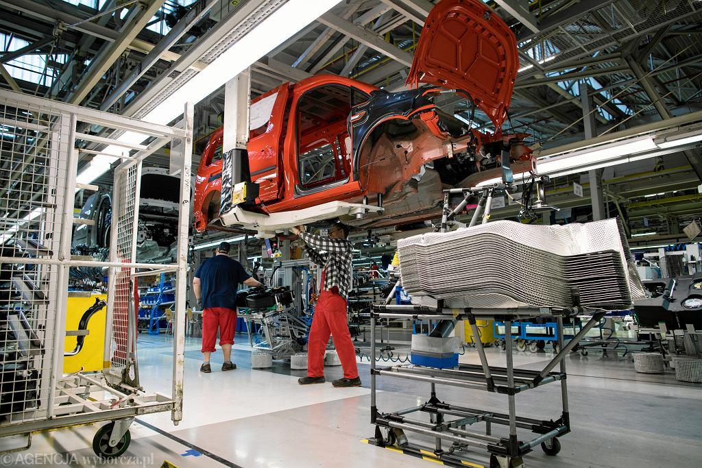 PMI za sierpień wskazuje na spadek zamówień eksportowych. Na zdjęciu zakład Volkswagen Poznań