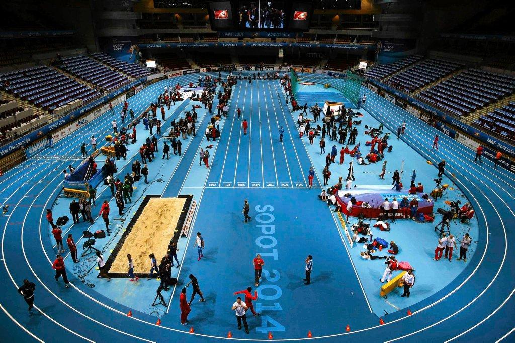 Ergo Arena, widok z góry