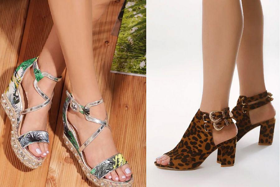 Wzorzyste sandały