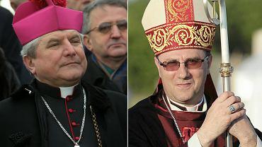 Biskup kaliski Edward Janiak (z lewej) atakuje prymasa Polski i metropolitę gnieźnieńskiego abp. Wojciecha Polaka (z prawej)