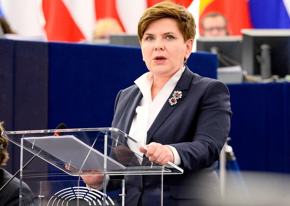 Premier Beata Szydło w Parlamencie Europejskim, 2016 r.