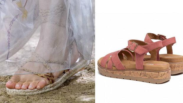 Sandały na naturalnych tworzywach