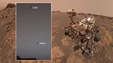 Tak wygląda Ziemia z powierzchni Marsa. Nowe zdjęcie łazika Curiosity. W kadrze jest też Wenus