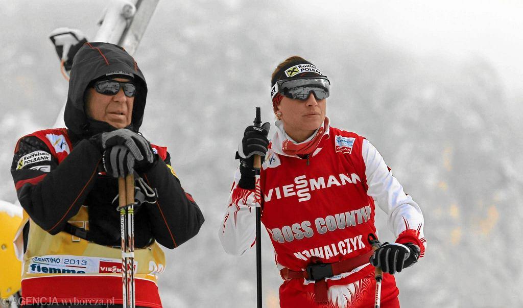Aleksandr Wierietielny i Justyna Kowalczyk