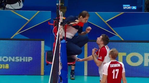 Michał Kubiak otrzymał czerwoną kartkę w mecz Polski z Serbią