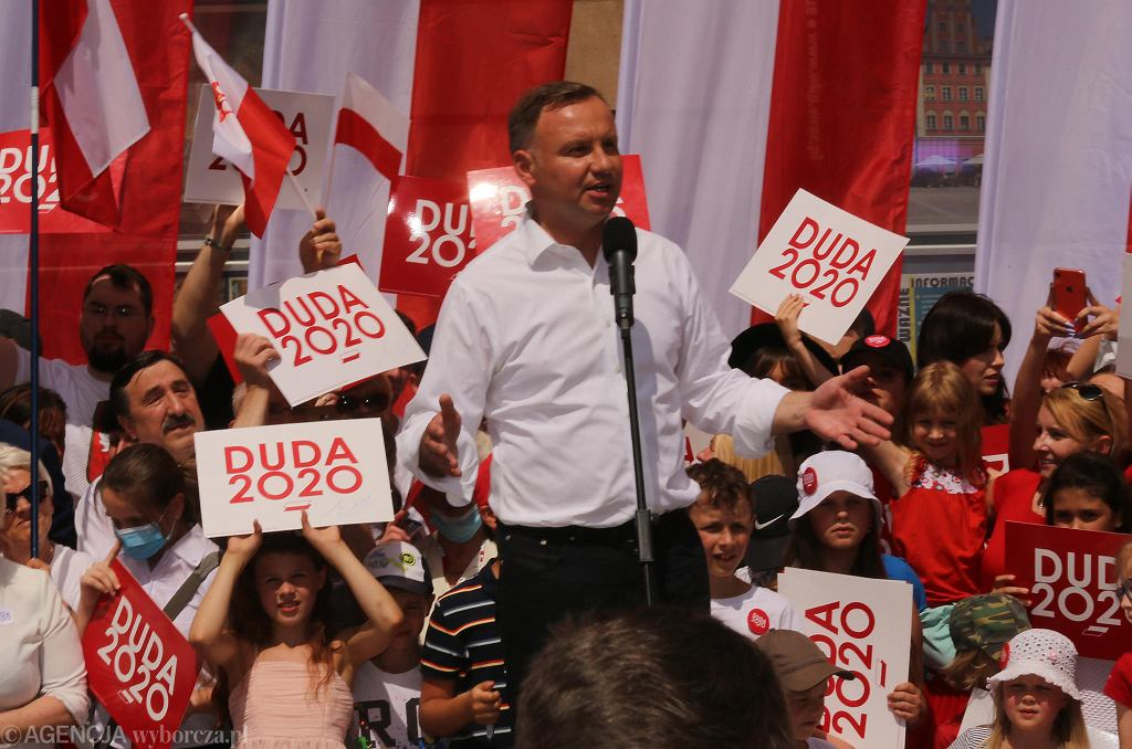 Andrzej Duda na wiecu we Wrocławiu.