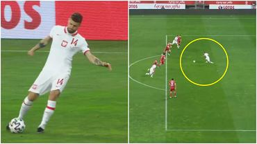 Gol dla Polski przeciwko Rosji. Podania Mateusza Klicha (po lewej) i Przemysława Frankowskiego (po prawej)