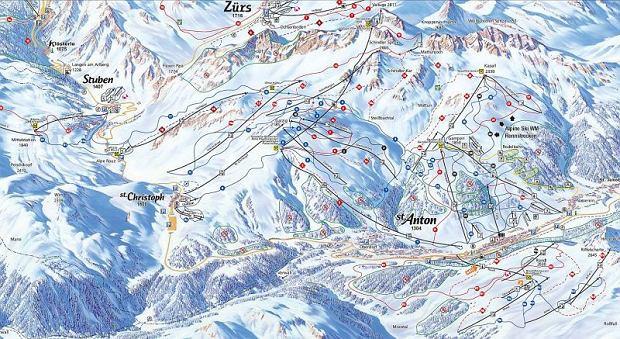 st anton, arlberg, narty w austrii